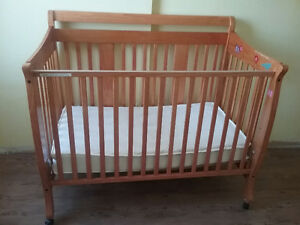 Solid Wood Baby Cribs plus mattress, great condition