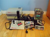 Two (2) Nintendo NES Systems, Plus Games, Accessories