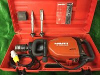 Hilti TE 1000 AVR Heavy Duty Concrete Breaker 110v Plus Chisels