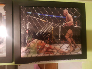 Autographed 8x10 of MMA legend GSP
