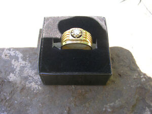 Men's 18K Yellow And White Gold Ring