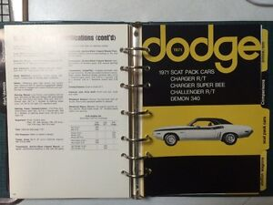 1971 Dodge dealership data books Strathcona County Edmonton Area image 2
