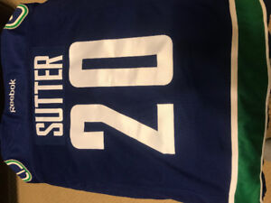 Canucks (sutter) authentic jersey