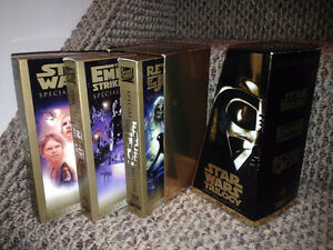 STAR WARS Trilogy VHS Special Edition Set. Gold Box