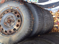 4 Nokian All Season Tires with Rims Size 185 65 R14 *REAL DEAL*
