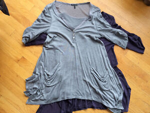 Anthropologie Ella Moss draped tops,M. Like New 2 for $30! Strathcona County Edmonton Area image 3