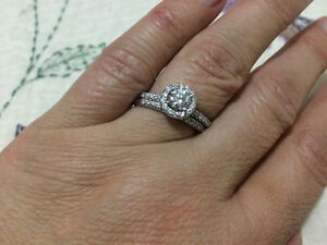 Round Brilliant Cut Natural Diamond Wedding Ring Set Campbell River Comox Valley Area image 1
