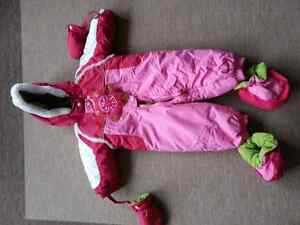 Girls Baby snow suit.