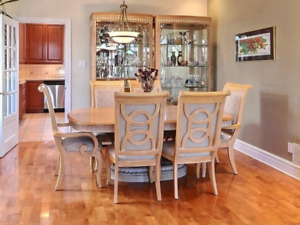 Dining table with 6 chairs and 2 buffets