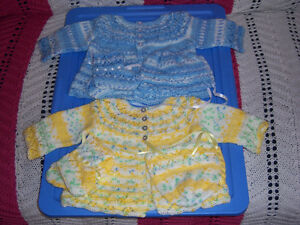 knitted baby sets  $20.00each