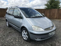 2004 04 Ford Galaxy 1.9TDi 130ps Ghia 7 SEATS 6 SPEED SPARE OR REPAIRS