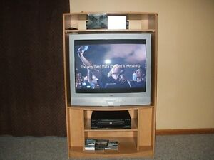 36 Inch  T.V. And DVD player and Cabinet Regina Regina Area image 1