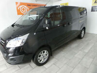 2015 Ford Transit Custom 2.2TDCi 125 LWB Double Cab **BUY FOR ONLY £62 A WEEK**