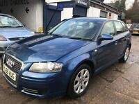 Audi A3 2.0 Diesel TDI Sportback 2006 5 Door * Light Damaged Repairable * Cat D