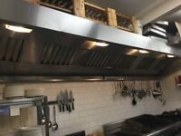Commercial kitchen stainless steel / canopy/ 4.5 meter