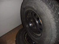 Sell OR Trade  4 - 225/75/r15  (Winter) with rims