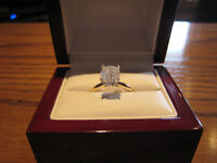 1.6 Ct 14K White Gold Diamond Solitaire I Color I2 Cl sz.6,7&8