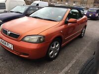 Vauxhall Astra 1.6 convertible 2004 very low mileage lovely car pearl paint AA/rac welcome