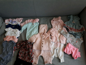Baby girl clothing and accessories. 3 months