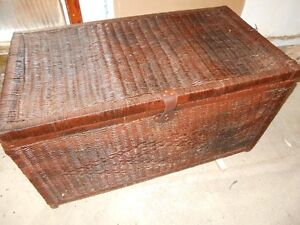 large Wicker Trunk in Good Condition