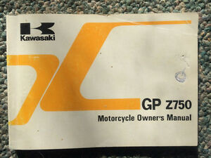 1983 Kawasaki GPZ750 ZX750 Owners Manual