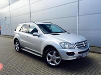 2006 06 Mercedes-Benz ML ML320 3.0 CDI 7 G-Tronic Sport Silver + SAT NAV + SPEC