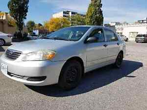 2005 toyota corolla with CERTIFY&EMISSION with WINTER tires