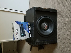 Car stereo with sub and amp