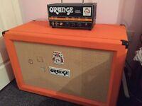orange dark terror all valve 15w amp and 2x12 closed back cab