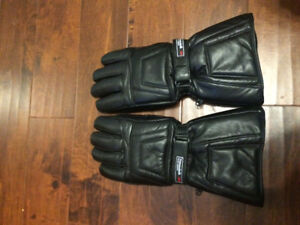 Winter Thinsulate leather snowmobile gloves