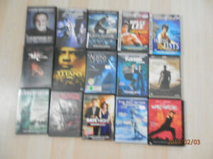 DVD VHS MOVIES ALL FOR 15.00 container INCLUDED