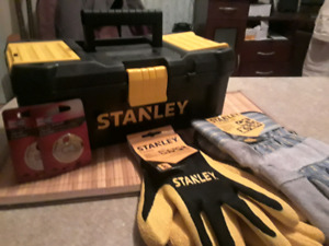 STANLEY Toolbox, Gloves, etc. Never used!