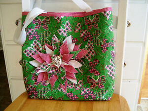 Purse handbag custom crafted quilted new