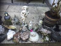 Garden bed / pond / pool ornaments & lime stone job lot