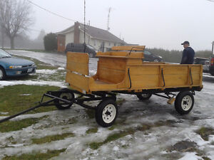 wooden wagon for horse