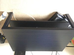 3 piece Hemnes Black/Brown wall unit and coffee Table