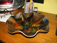 Seetusee by Mayfair Glassware.  Wavy  9 Inch Candy Dish