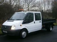2014(14) Ford Transit T350 LWB D/C CREW CAB TIPPER, Euro 5, FINANCE?