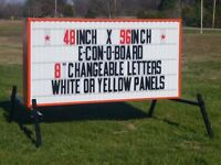 Message letter board signs