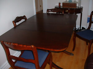 Antique Duncan Phyfe Dining Room Table & Chairs