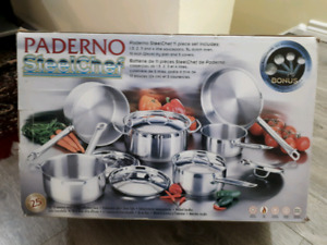 Paderno stainless steel cookware set 11 piece