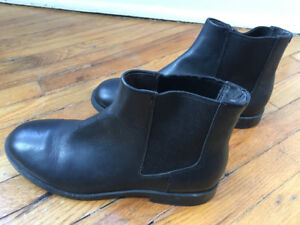 Camper black leather ankle boots