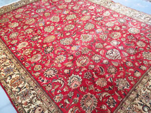 Semi-Antique persian Rug,Handmade,wool,12.8 x 9.9 ft,