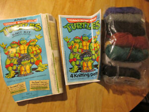 TMNT Teenage Mutant Ninja Turtles Knitting Pattern Vintage G1