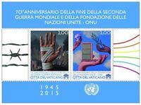 Francobolli Vaticano 2015 - 70° Ann. Fine Della Seconda Guerra Mondiale - mondi - ebay.it