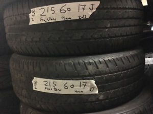 """17"""" used tires All seasons and Winter tires Single,sets of 2,3 4"""