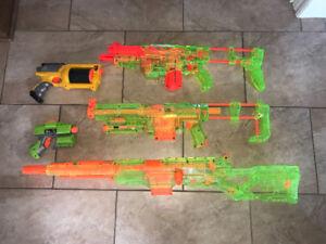 Ensemble de fusils Nerf - Nerf gun set