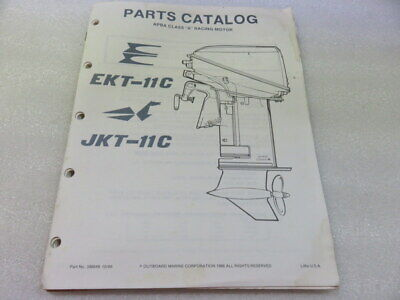 PM64 1987 OMC Evinrude Johnson EKT-11C JKT-11C Parts Catalog Manual P/N 398849