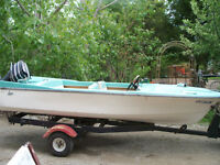 14ft Lane with trailer & 35Hp Mecury Priced to sell $1000.00