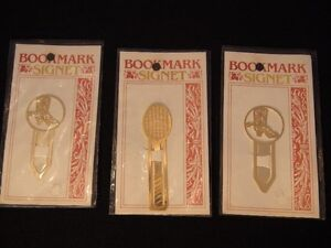 Gold Plated Bookmarks Signet London Ontario image 1